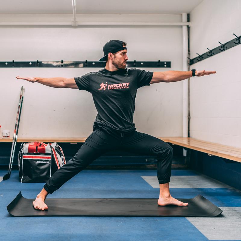 Hockey Yoga Stance