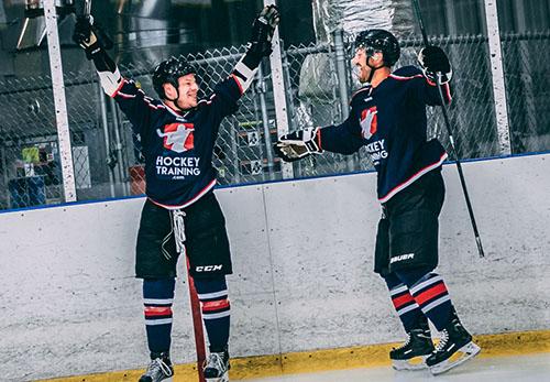 hockey goal celebration